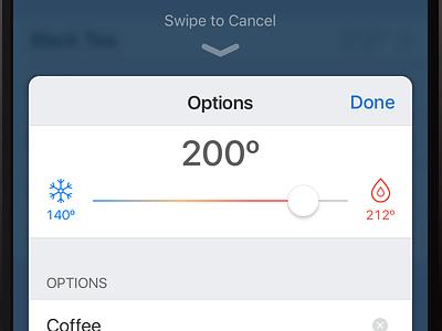 Smart Kettle Companion App icons mobile smart appliance kettle ui ios
