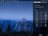 Scores for Mac - Notification Center Widget