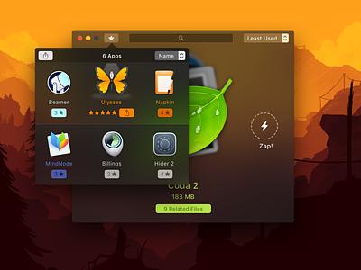 Uninstaller Utility for Mac interface design client work apple design ui macos mac