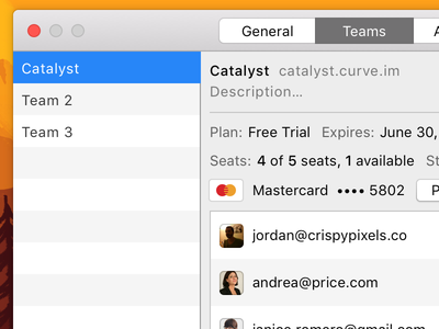 Curve for Mac - Preferences client project mac macos ui interface design apple