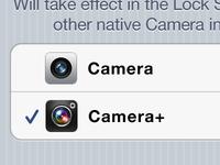 I wish… iOS default Camera.app selection
