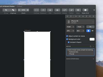 Sketch Artboard Notes (Plugin Concept) notes plugin macos sketch.app