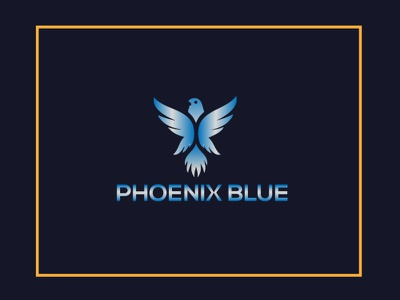 blue color logo icon vector typography illustrator minimal logo illustration flat design branding