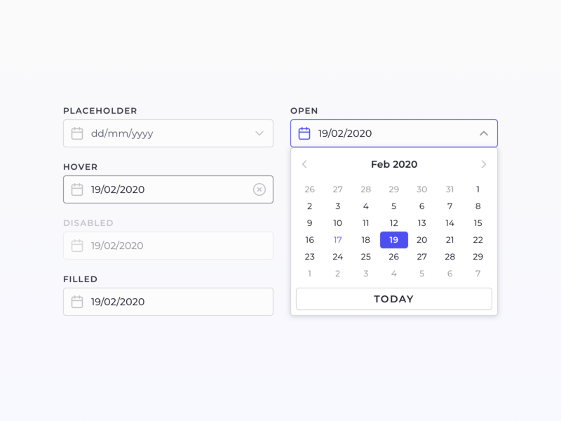 Date picker datepicker date picker data app ux ui