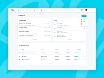 Hello Dribbble! Sliq dashboard design tables desktop crm ux app ui dashboard