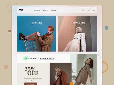 Clothing Store Landing Page ui design ui fashion fashion website e-commerce online clothing store landing page header website design clothing store landing page