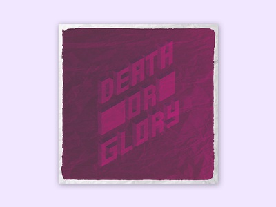 Death or Glory! sticker mule rebound the clash