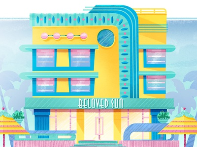 Beloved Sun Art Deco illustration art deco architecture visual development