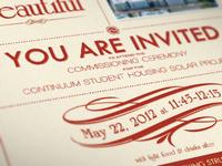 Gala Invitation (cont.)