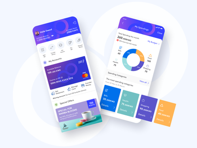 WarbaBank Bloom App Preview transfer payments payment app ui product design digital banking online bank online banking youth mobile ui mobile banking app banking bank finance app finanace