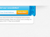 Get our newsletter!