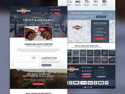 Wheeling Auto Center redesign website redesign cars auto auto shop autoshop auto repair auto center