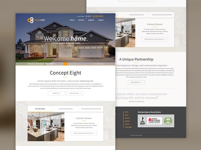 Concept8 - Recent Launch web design website home rennovations home builder general contractor