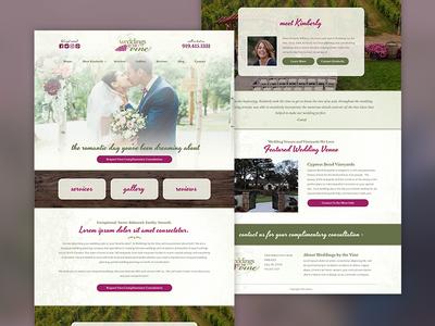 Weddings by the Vine Website
