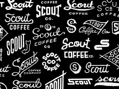 Scout Coffee scout coffee black white logo identity brand roast organic