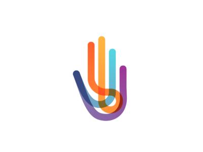 Autism logo multicolor hand spectrum autism