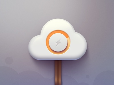 Cloud Icon cloud icon orange idea electronic loading ui ux logo lightning