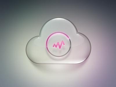 Glass Cloud    icon cloud loading galss activity ux ui