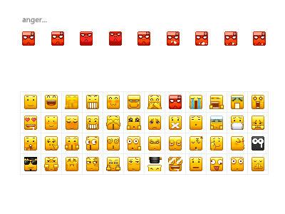 pixels emoticons phiz icons cute