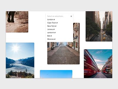 Listing Filter Interaction Concept framerjs framerx interaction filter listing page simple clean ui