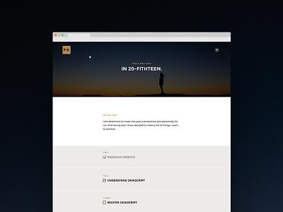 2015 Resolutions - Personal website redesign website clean ui webpage ux design
