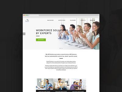 HR Pitch Concept web page ui ux concept