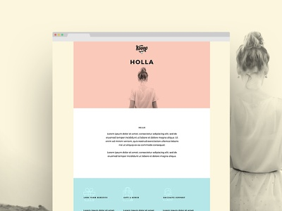 Hoop one pager web page web page ui ux concept home inspiration