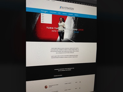 WIP 2015 site update web page ui concept home inspiration clean typography