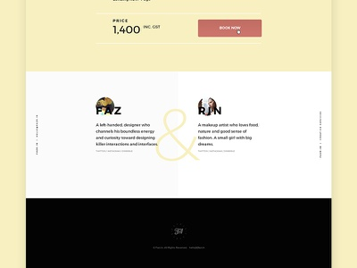 Snippet of fazr.in new website typographic website webpage clean ui ux inspiration