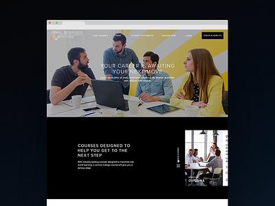 Web design education homepage webpage clean ui