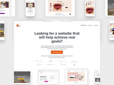 Clean Wordpress Website 2017 simple ui wordpress white space homepage webpage corporate clean