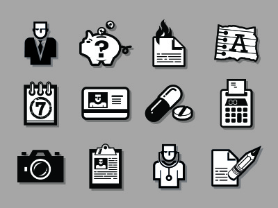 Instinctive Data Icons instinctive data icons ux ui interface