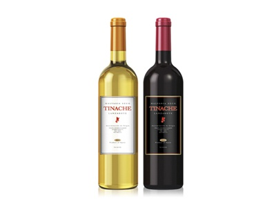 Tinache packaging label wine