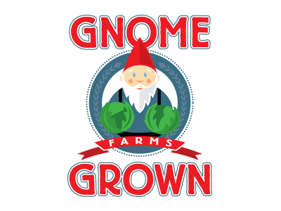 Gnome Grown Farms illustration gnome grown design logo branding