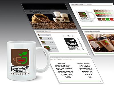 Cocoa Bean hand lettering custom typography branding logo design