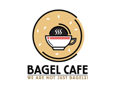Bagel Cafe Logo illustration branding logo design