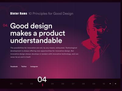Dieter Ram's 10 Principles for Good Design. Two designs