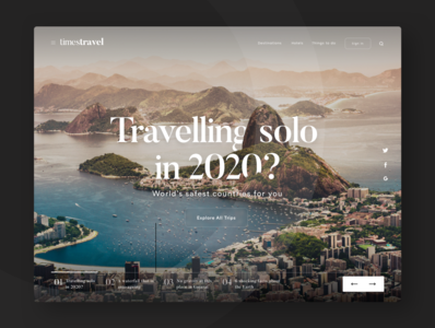 Landing page concept for travel