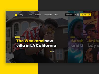 Gossip Portal flat dark webdesign website web design design user interface minimal ui web
