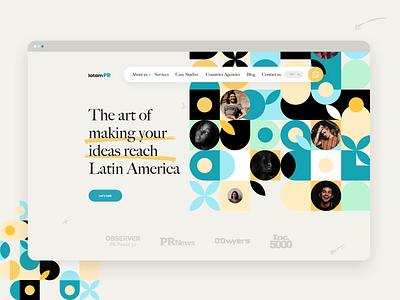 Latam PR Agency webdesign flat website web design design light user interface minimal ui web