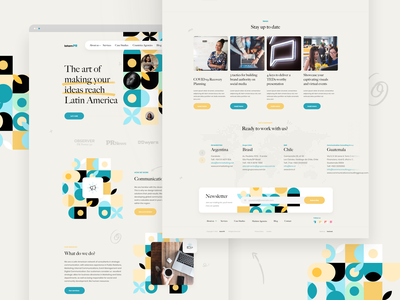 LatamPR full design website web design flat webdesign light design user interface minimal ui web