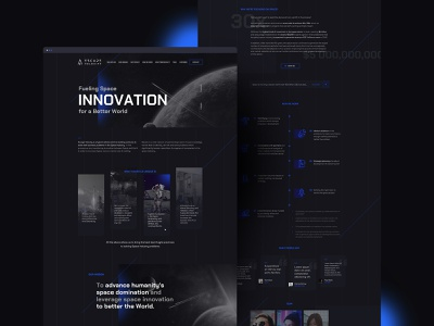 Escape Velocity dark ui web design webdesign user interface minimal landing velocity space mobile desktop dark ui web