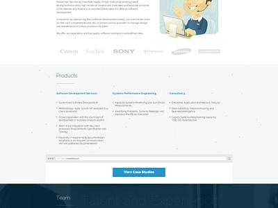 Software House - one page responsive rwd ui user interaface web designer webdesigner webdesign web software house one page