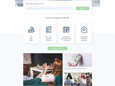 Hospital website design user interface ui webdesign bright care blue clinic hospital medic doctor medical