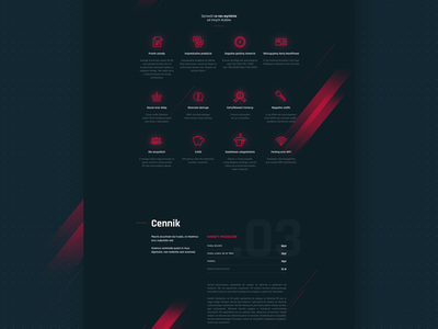Gym website onepage ui user interface design web fitness fit minimal dark gym