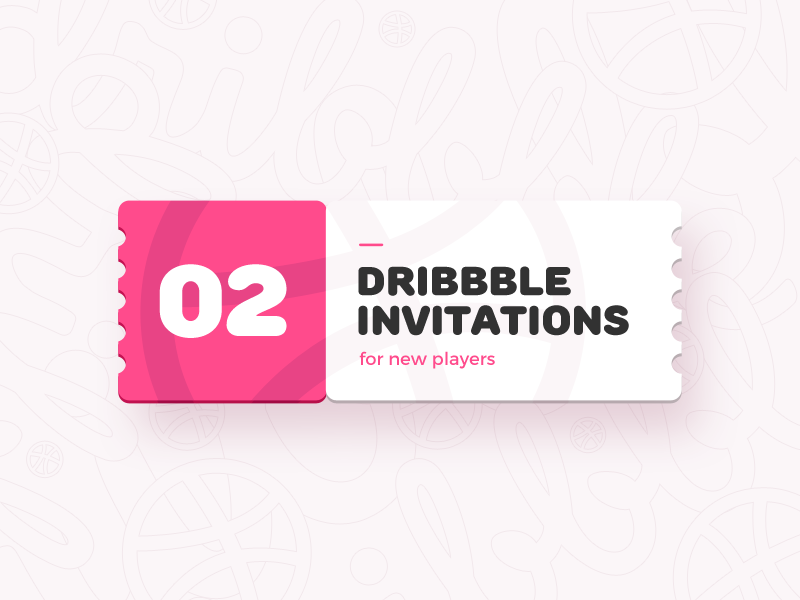 Dribbble Invites hello welcome ticket invitation invites invite dribbble