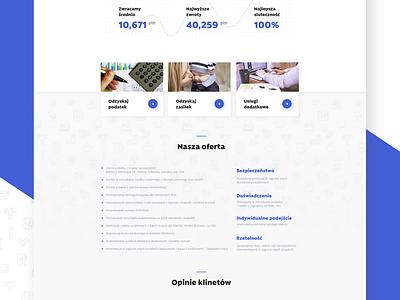 Tax Return website light user interface ui design white blue tax taxes website web