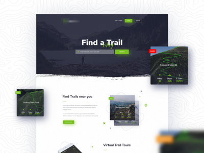 Find hiking trails page light minimal adventure trail search hiking
