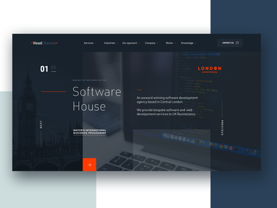Software House flat dark web design webdesign website user interface minimal ui design web
