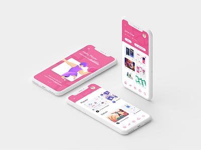 Dribbble app concept design illustration concept app light user interface minimal ui